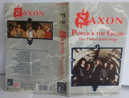 SAXON - POWER & THE GLORY  (the video anthology)
