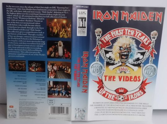 "IRON MAIDEN -THE FIRST TEN YEARS ""THE VIDEOS - 1980-1990"""